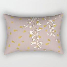 Wisteria in Gold Rectangular Pillow