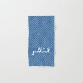 Mini Paddles and Balls on Blue Hand & Bath Towel