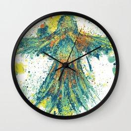 Parrot Splatter Wall Clock