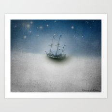 Pirate Ship Tall Ship - Charting the Clouds Art Print