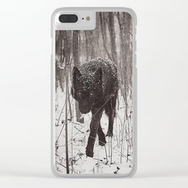 Snow Wolf Clear iPhone Case