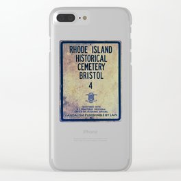 Historical Cemetery Bristol, RI Clear iPhone Case