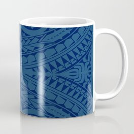 Monochromatic Polynesian Tribal design Coffee Mug