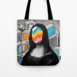 Mona Lisa Meltdown Tote Bag
