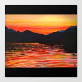 Ruby Lake Canvas Print