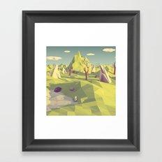 Polygon Landscape Framed Art Print