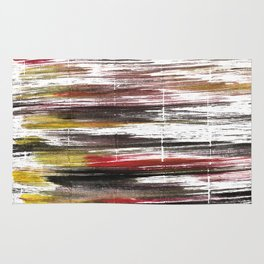 Raisin black abstract watercolor Rug