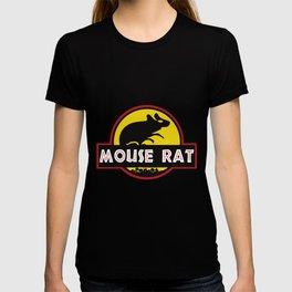 mouse rat logo jurasic parody T-shirt