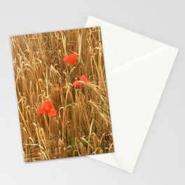 Daubs of poppy Stationery Cards