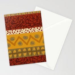 Africa Stripes pattern Stationery Cards