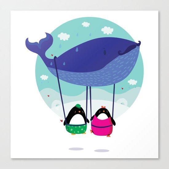 Whale ride Canvas Print