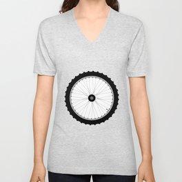 Bicycle Wheel Unisex V-Neck