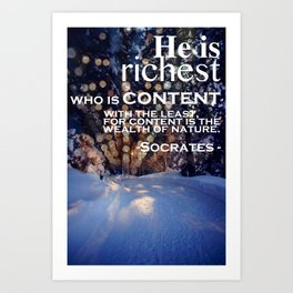 Winterlights Art Print