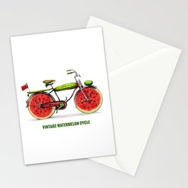 ORGANIC INVENTIONS SERIES: Vintage Watermelon Bicycle Stationery Cards