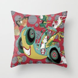 get in the car, we're goin' for a ride! Throw Pillow