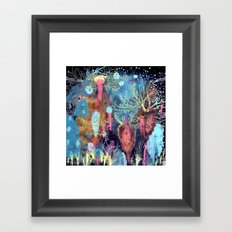 Space Hive Framed Art Print