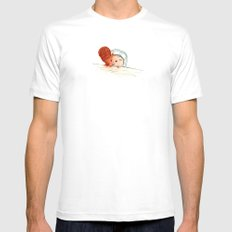 obviously. White MEDIUM Mens Fitted Tee
