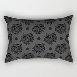 skull and flowers Rectangular Pillow