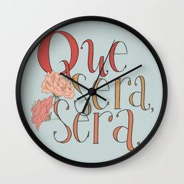 Que Sera, Sera Wall Clock