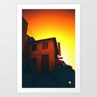 Valencia sunset Art Print