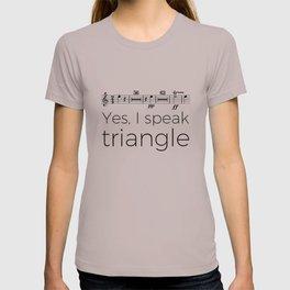 I speak triangle T-shirt