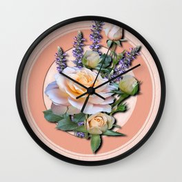 Floral Bouquet Wall Clock