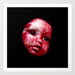 Blood Doll Face I Art Print