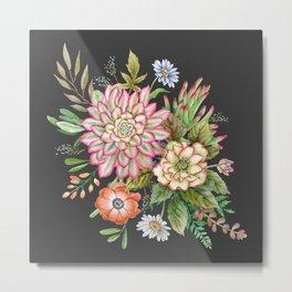 Watercolor succulents #61 Metal Print