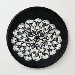 beige black lace Wall Clock