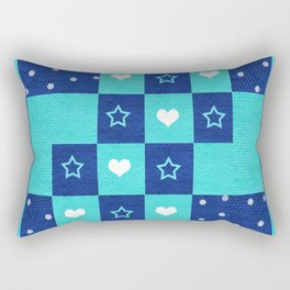 Design with Stars, Hearts, and Dots Rectangular Pillow