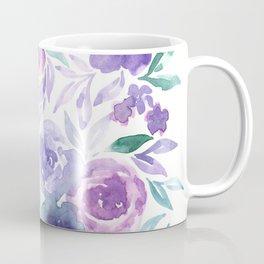 Watercolor Wildflower Meadow Floral Print Coffee Mug