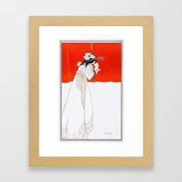 Isolde - By Aubrey Beardsley - Vintage Art Nouveau Print Framed Art Print