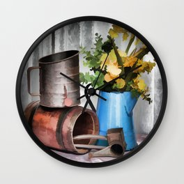 Looking To The Past Wall Clock