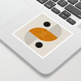Abstract Geometric Shapes Sticker
