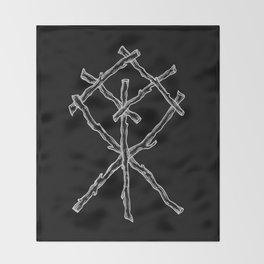 Rune Binding at Midnight Throw Blanket