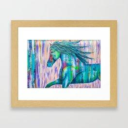 Runs with Joy Framed Art Print
