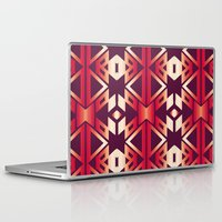 burgundy Laptop & iPad Skins featuring burgundy edge by design lunatic