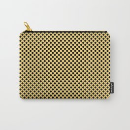 Lemon Drop and Black Polka Dots Carry-All Pouch