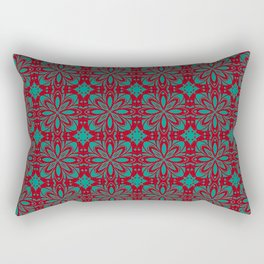 Christmas Red and Green Pattern Rectangular Pillow