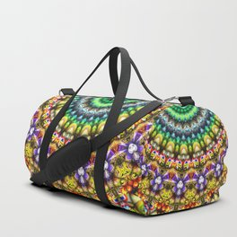 Colorful 3D Abstract Sun Duffle Bag