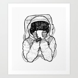 Space Tea Art Print