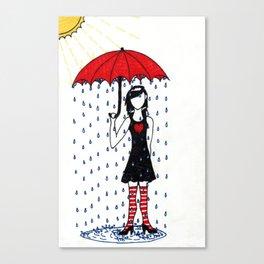 Under the Umbrella Canvas Print