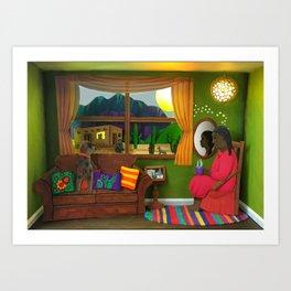 Abuela's Childhood Memories Paper Art Art Print