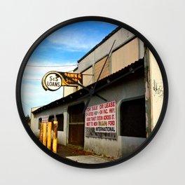 Local Pawn Shop Wall Clock