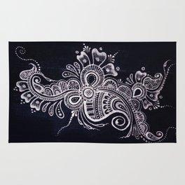 Henna Mehndi on Denim photograph print Rug