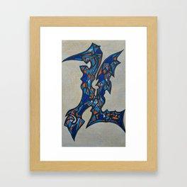Alien Letter 11 Framed Art Print