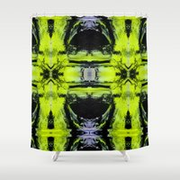 neon Shower Curtains featuring Neon by Sara Pålsson
