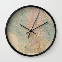 Vintage Map of Jersey City NJ (1879) Wall Clock