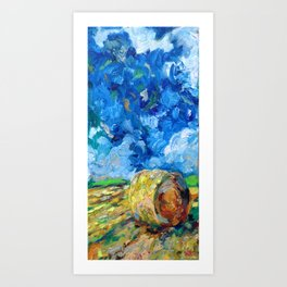 Round Haybale Art Print