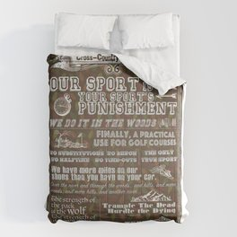 Cross-Country Running 101 Poster Comforters
